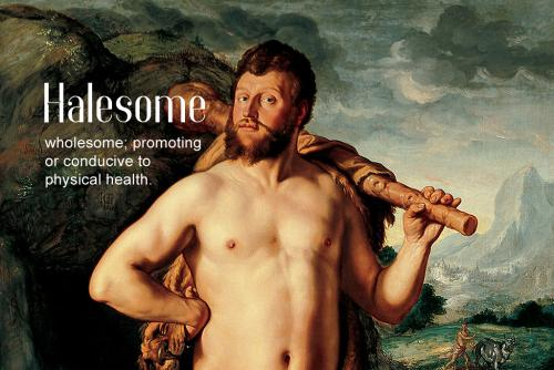 halesome definition: wholesome adj. (in various senses); (now) esp. promoting or conducive to physical health. Hendrik Goltzius: Hercules and Cacus