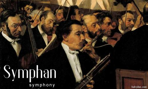 symphan-definition: symphony. Orchestra of the OperaEdgar Degas