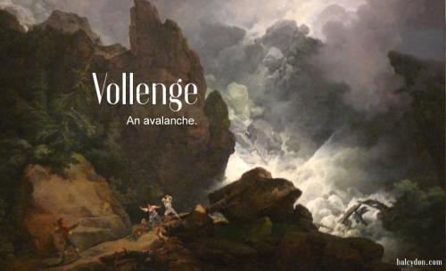 vollenge definition. avalanche. Philip James de Loutherbourg: An Avalanche in the Alps
